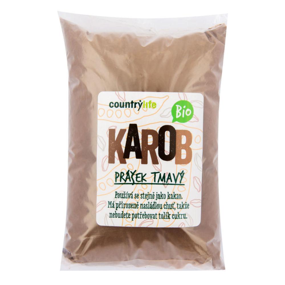 Karobový prášek tmavý 500 g BIO COUNTRY LIFE