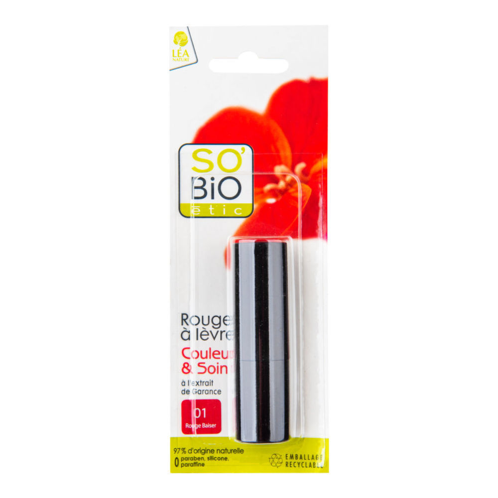 Rtěnka 01 rouge 4,5 g BIO SO'BIO étic