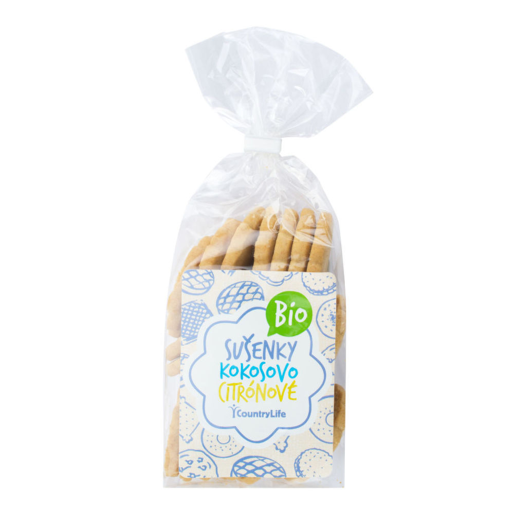 Sušenky kokosovo-citronové 175 g BIO   COUNTRY LIFE