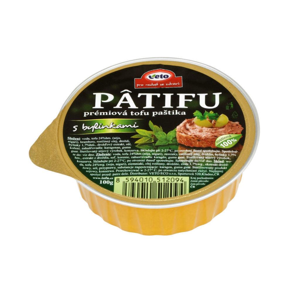Paštika PATIFU s bylinkami 100g   VETOECO