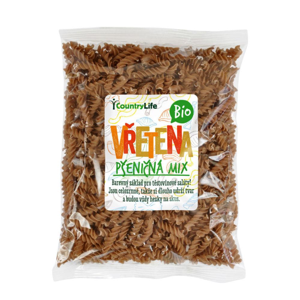 Těstoviny vřetena pšeničná mix 400g BIO   COUNTRYLIFE