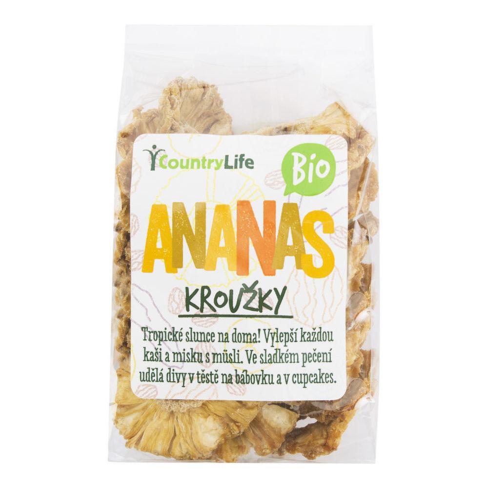 Ananas kroužky sušené 100g BIO   COUNTRYLIFE