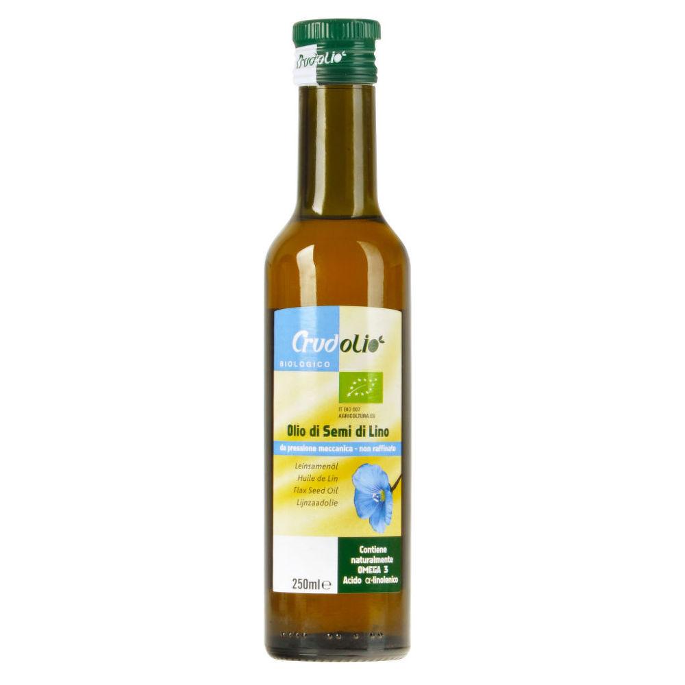 Olej lněný 250 ml BIO CRUDOLIO