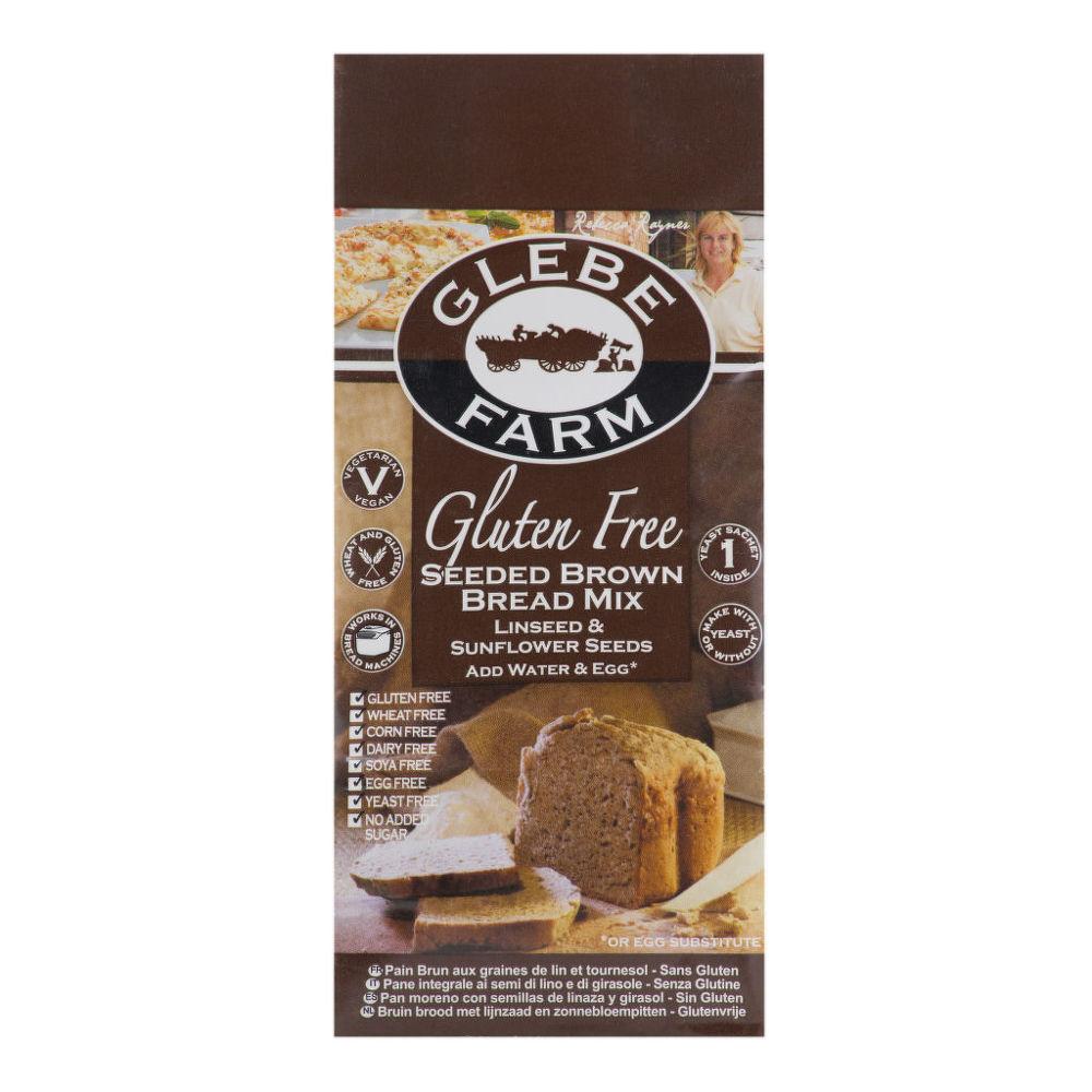 Směs na chléb tmavý se semínky bezlepková 375g   GLEBEFARM