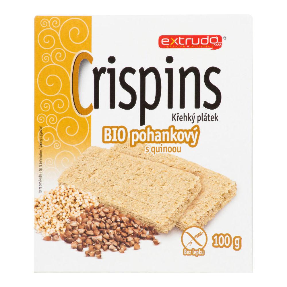 Chlebíček pohankový s quinoou bezlepkový 100g BIO   EXTRUDO