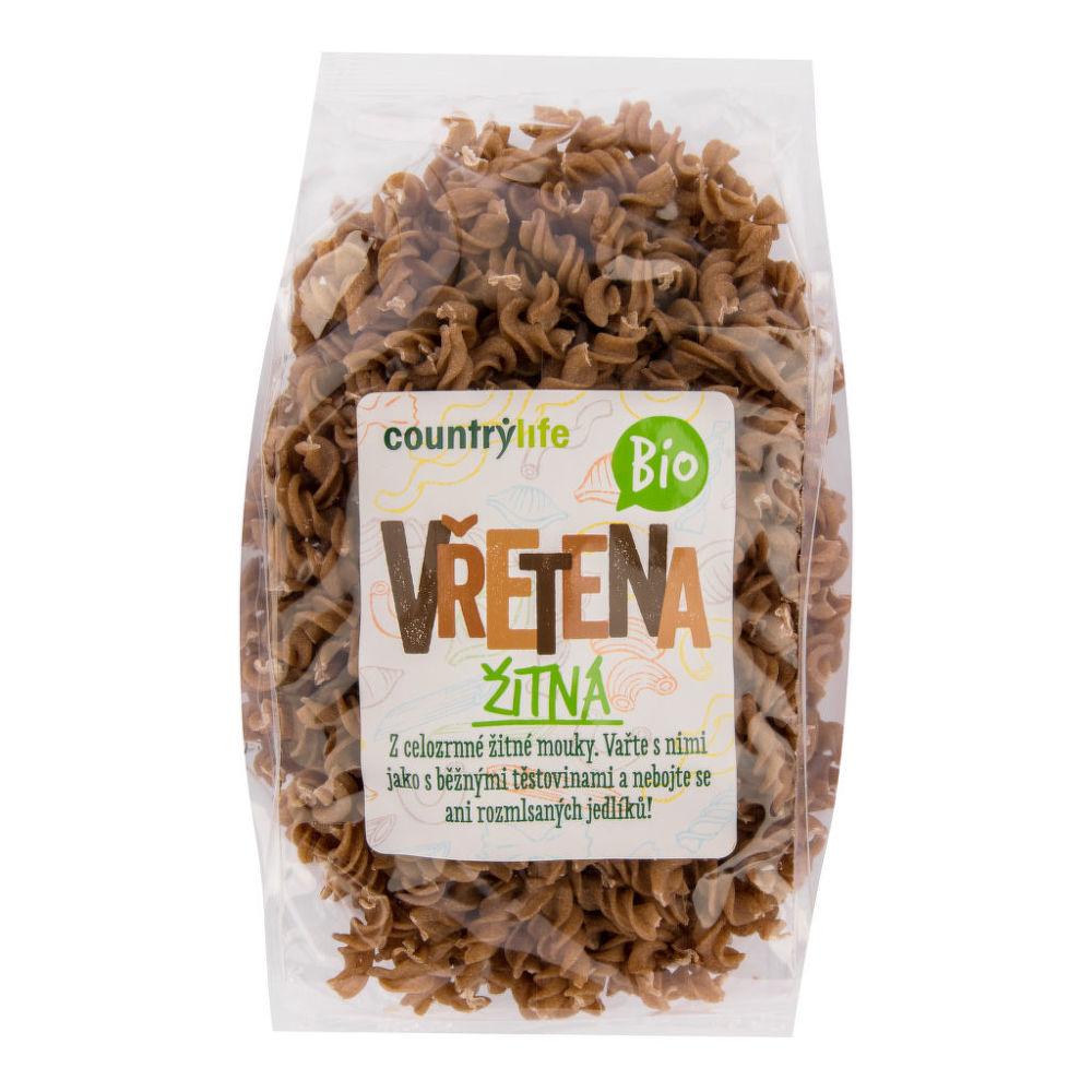 Těstoviny vřetena žitná 400 g BIO COUNTRY LIFE