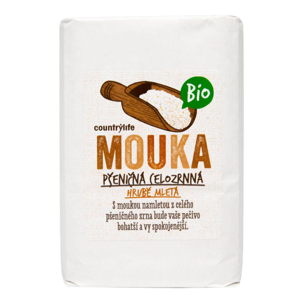 Mouka pšeničná celozrnná hrubě mletá 1 kg BIO COUNTRY LIFE Bio, Veganské, Bez přidaného cuk