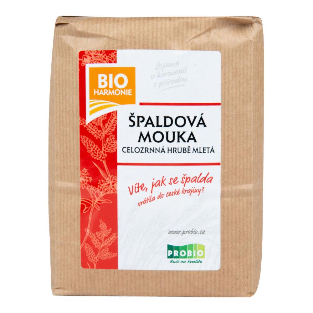 Mouka špaldová celozrnná hrubě mletá 1 kg BIO BIOHARMONIE Bio, Veganské, Bez přidaného cukru
