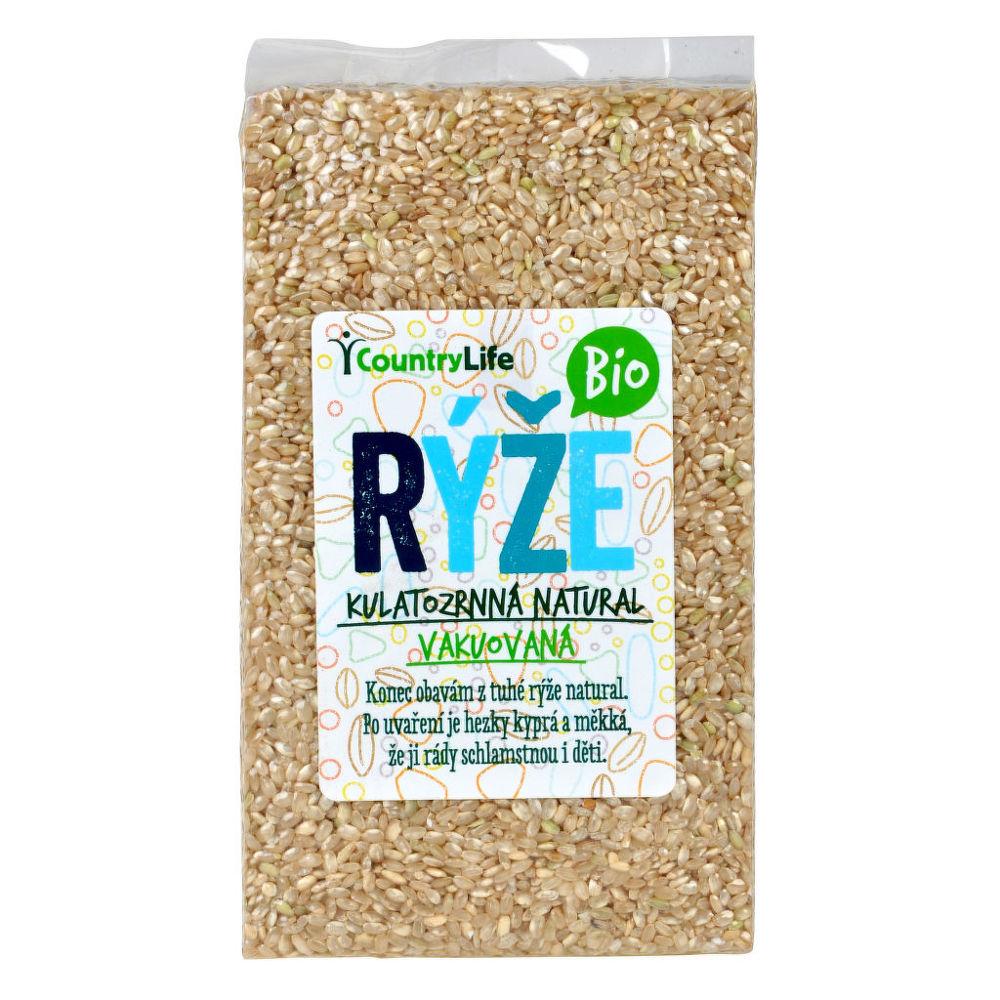 Rýže kulatozrnná natural vakuovaná 1 kg BIO COUNTRY LIFE