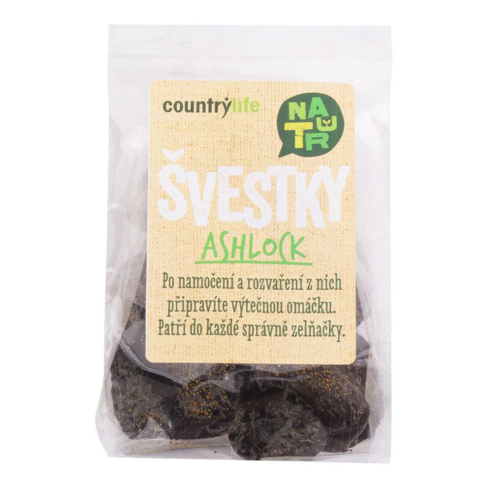 Švestky sušené bez pecek Ashlock 100 g COUNTRY LIFE