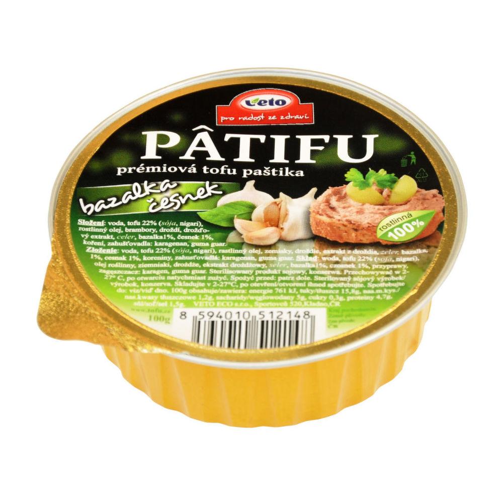 Paštika PATIFU bazalka a česnek 100 g VETO ECO