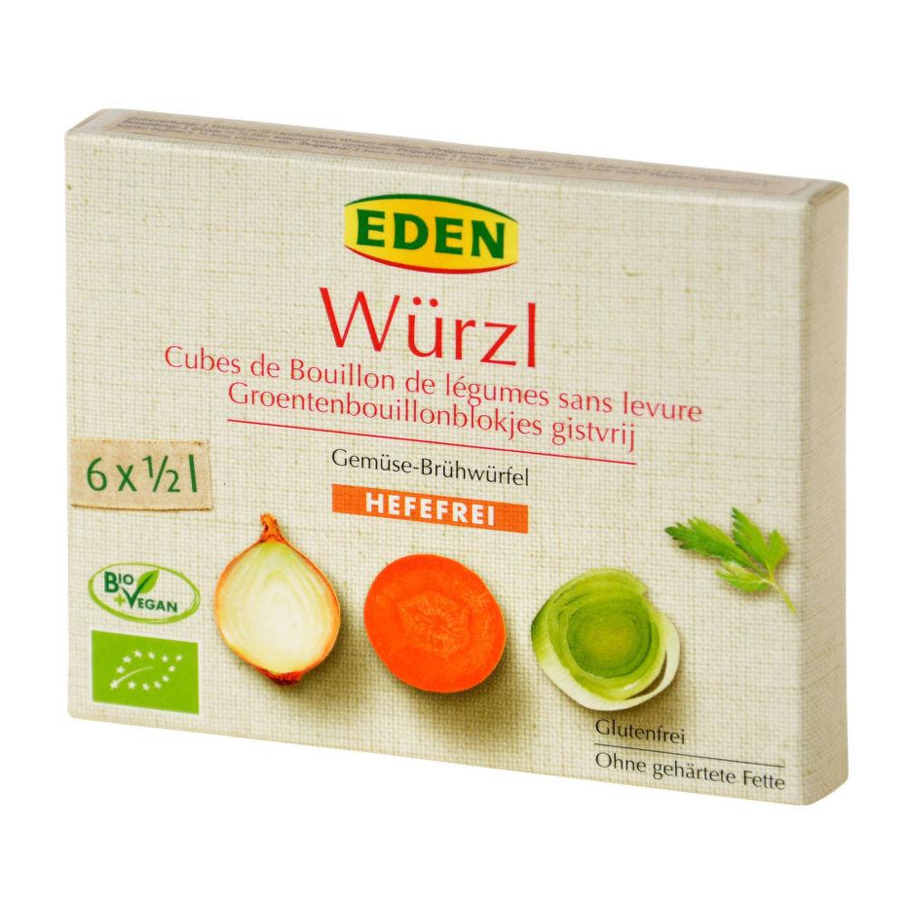Bujon zeleninový WÜRZL kostky bez droždí 72g BIO   EDEN