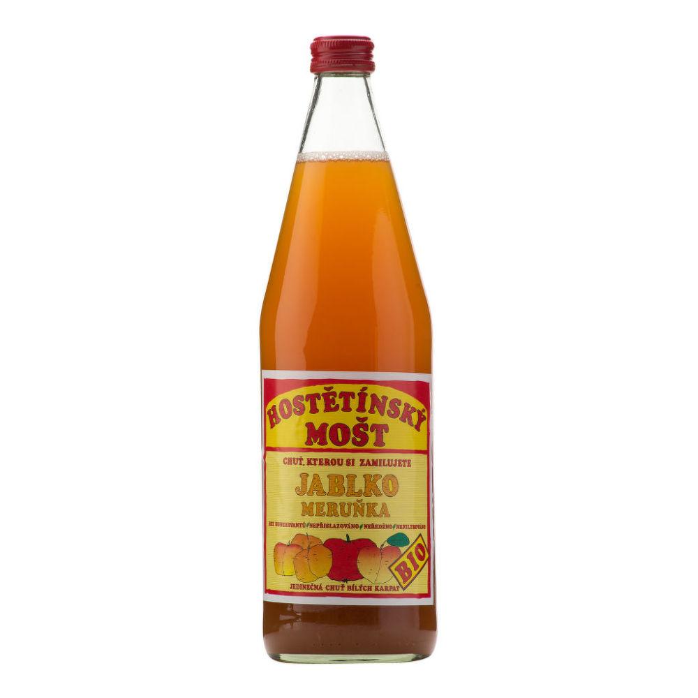 Mošt jablečný s meruňkou 750 ml BIO MOŠTÁRNA HOŠTĚTÍN
