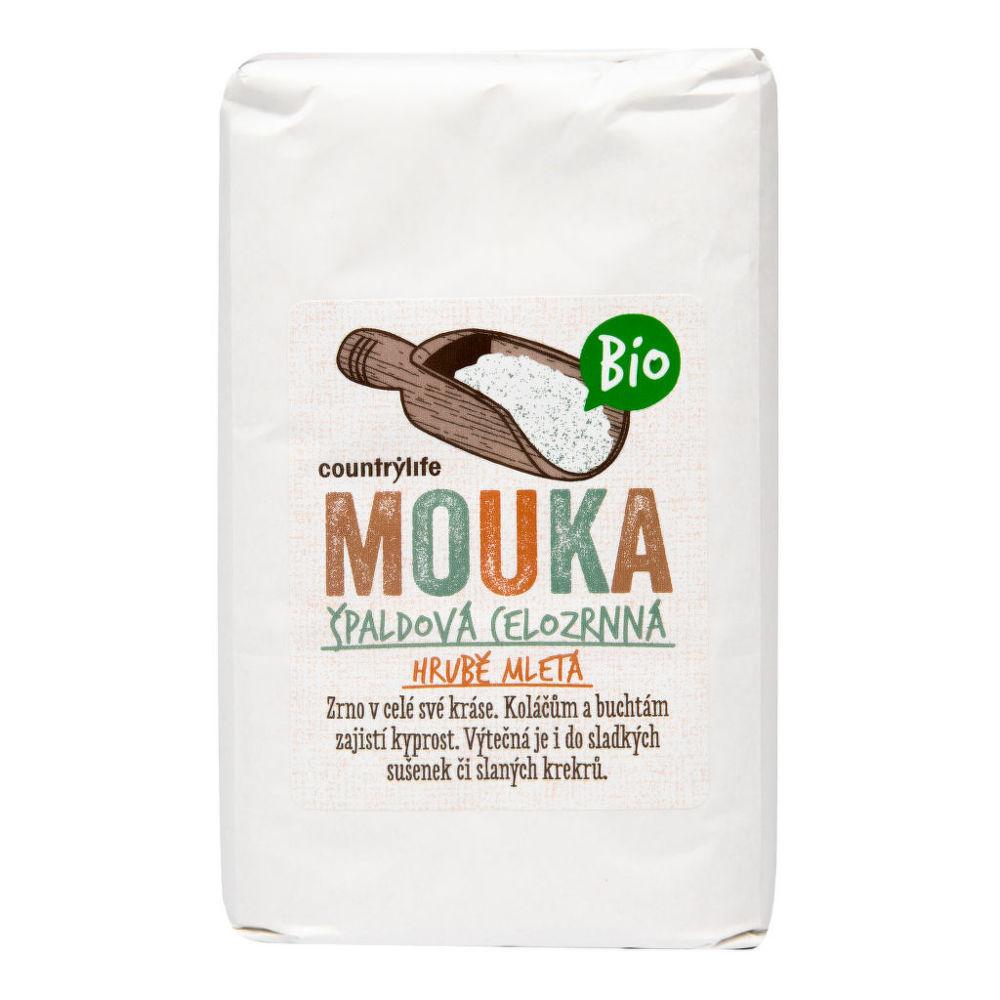 Mouka špaldová celozrnná hrubě mletá 1 kg BIO COUNTRY LIFE Bio, Veganské, Bez přidaného cukr