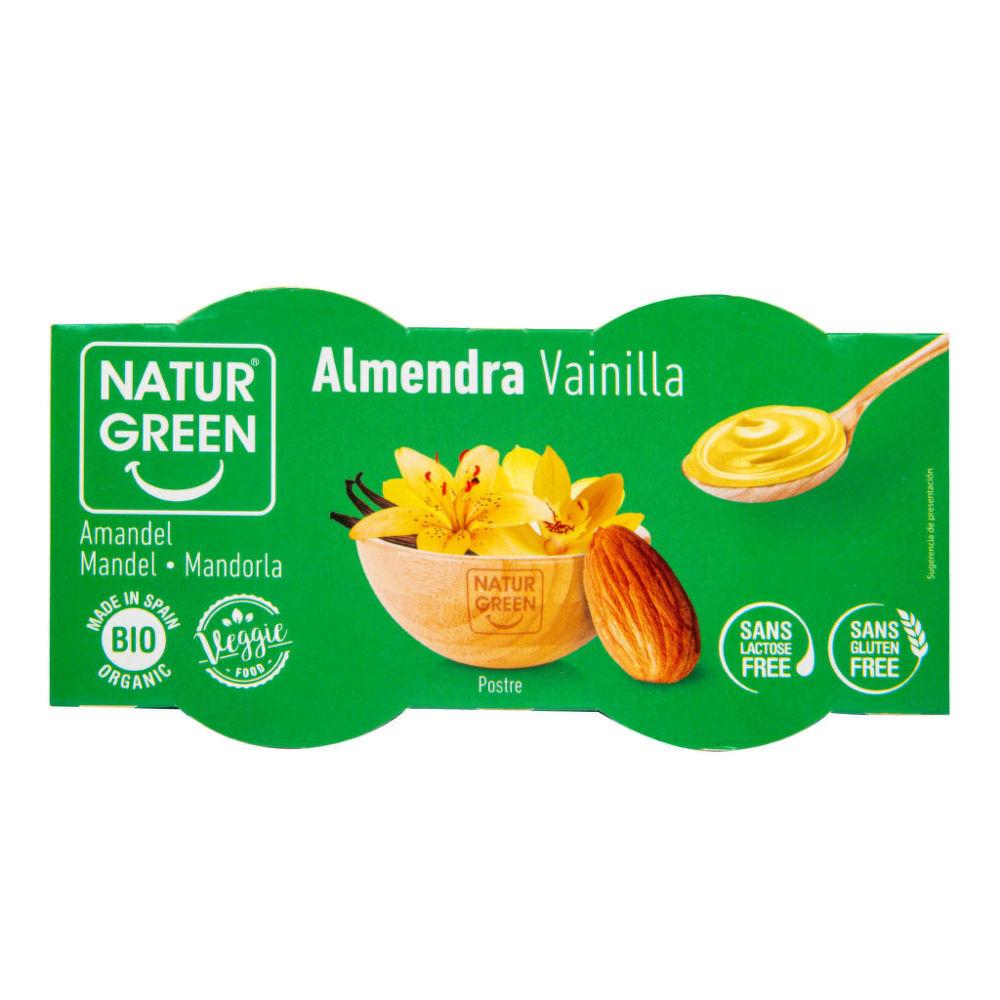 NATURGREEN Dezert mandlový s vanilkovou příchutí 2x125 g