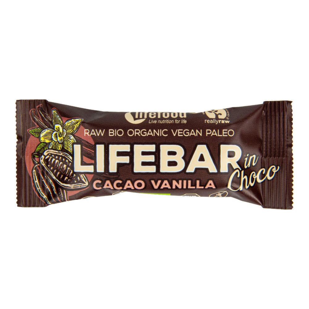 Tyčinka Lifebar kakaové boby s vanilkou 40 g BIO LIFEFOOD