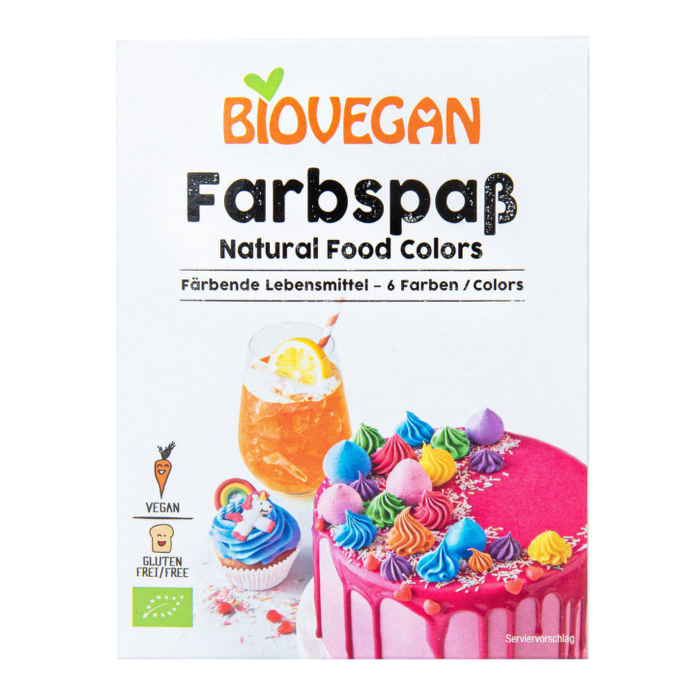 Potravinářské barvivo bezlepkové 6 x 8 g BIO BIOVEGAN