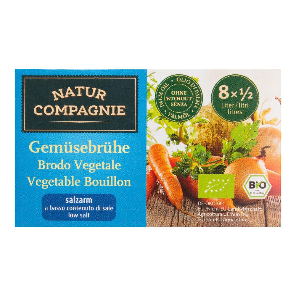 Bujon zeleninový kostky s nízkým obsahem soli 68 g BIO NATUR COMPAGNIE