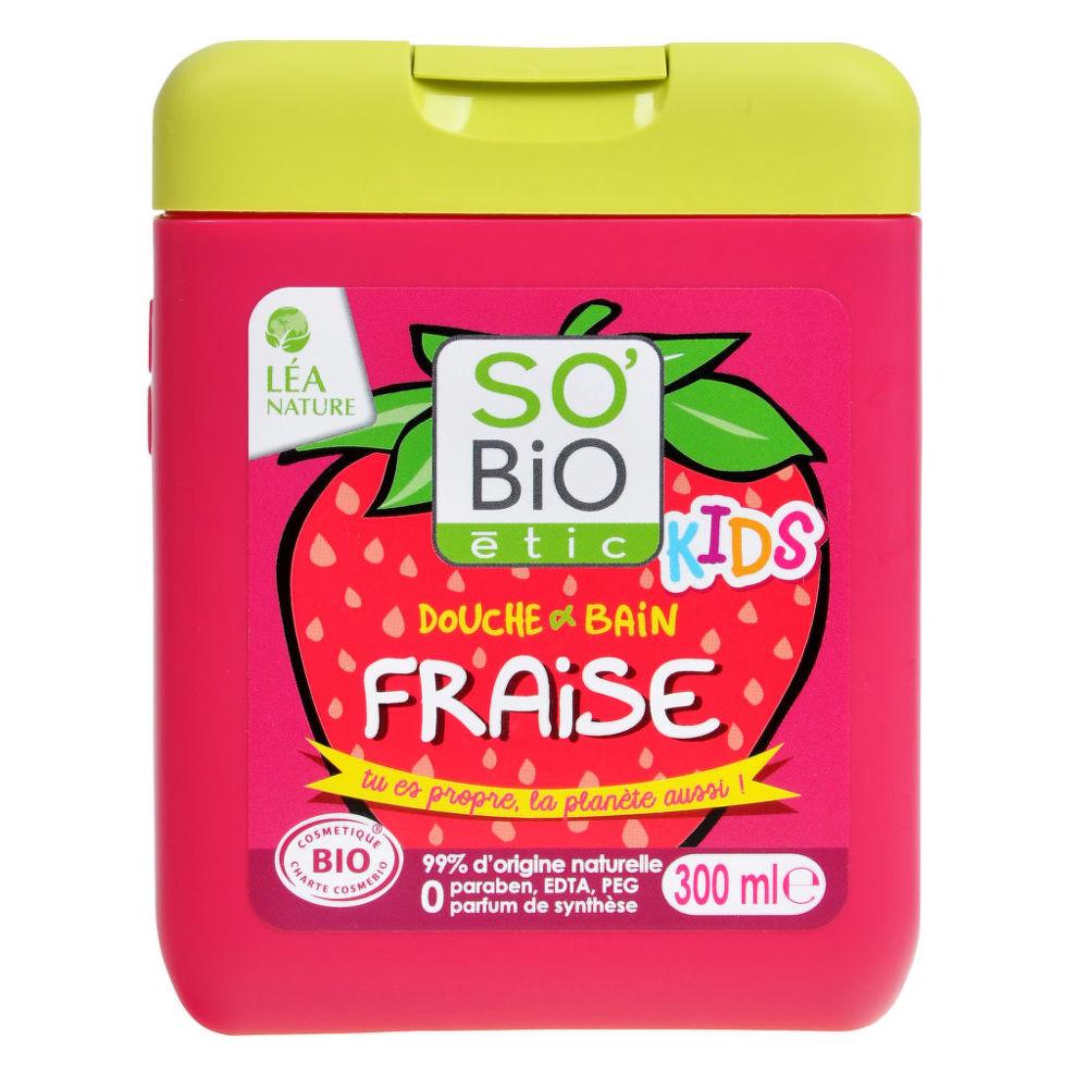 Gel sprchový a koupelový pro děti jahoda 300 ml BIO SO´BIO