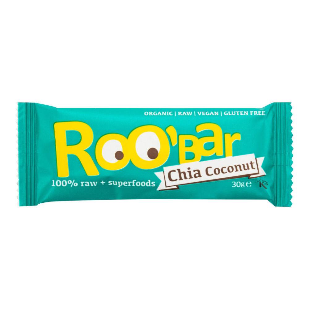 Tyčinka chia-kokos  bezlepková 30 g BIO   ROOBAR