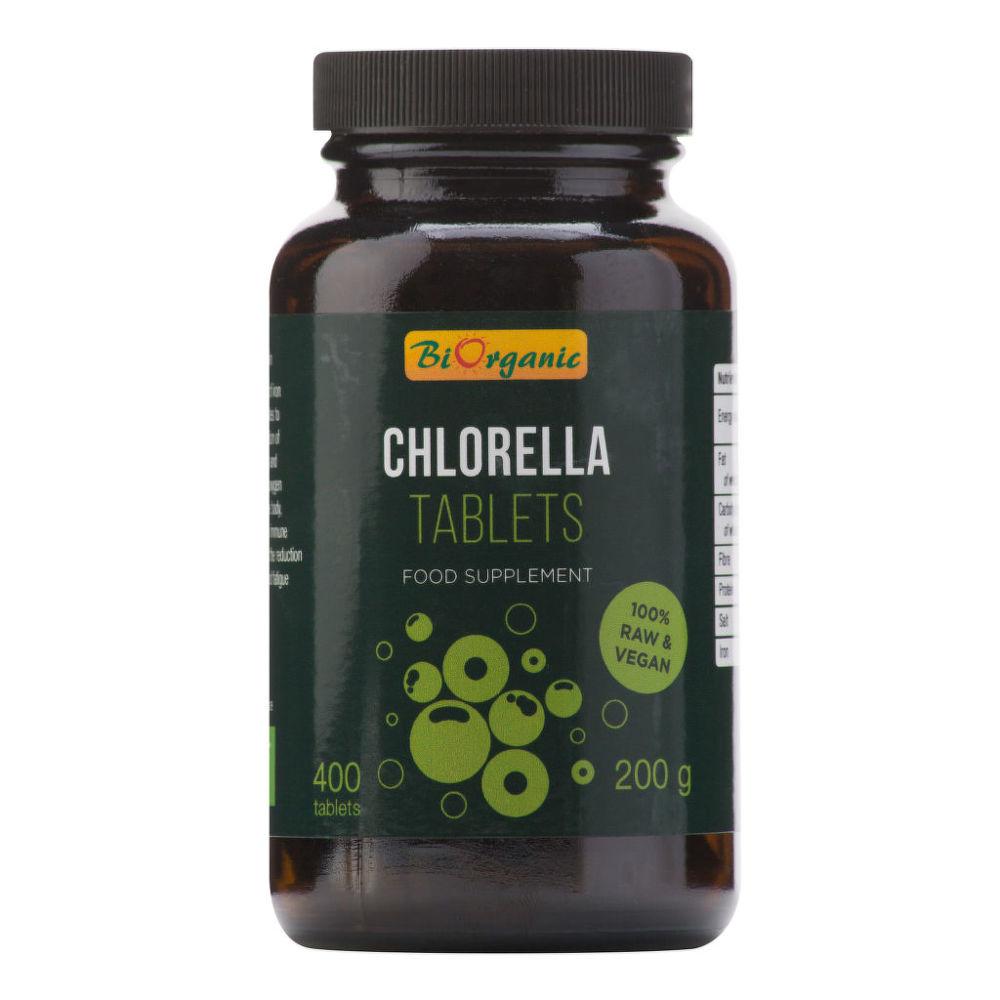 Chlorella 400 tablet 200 g BIO   BIORGANIC