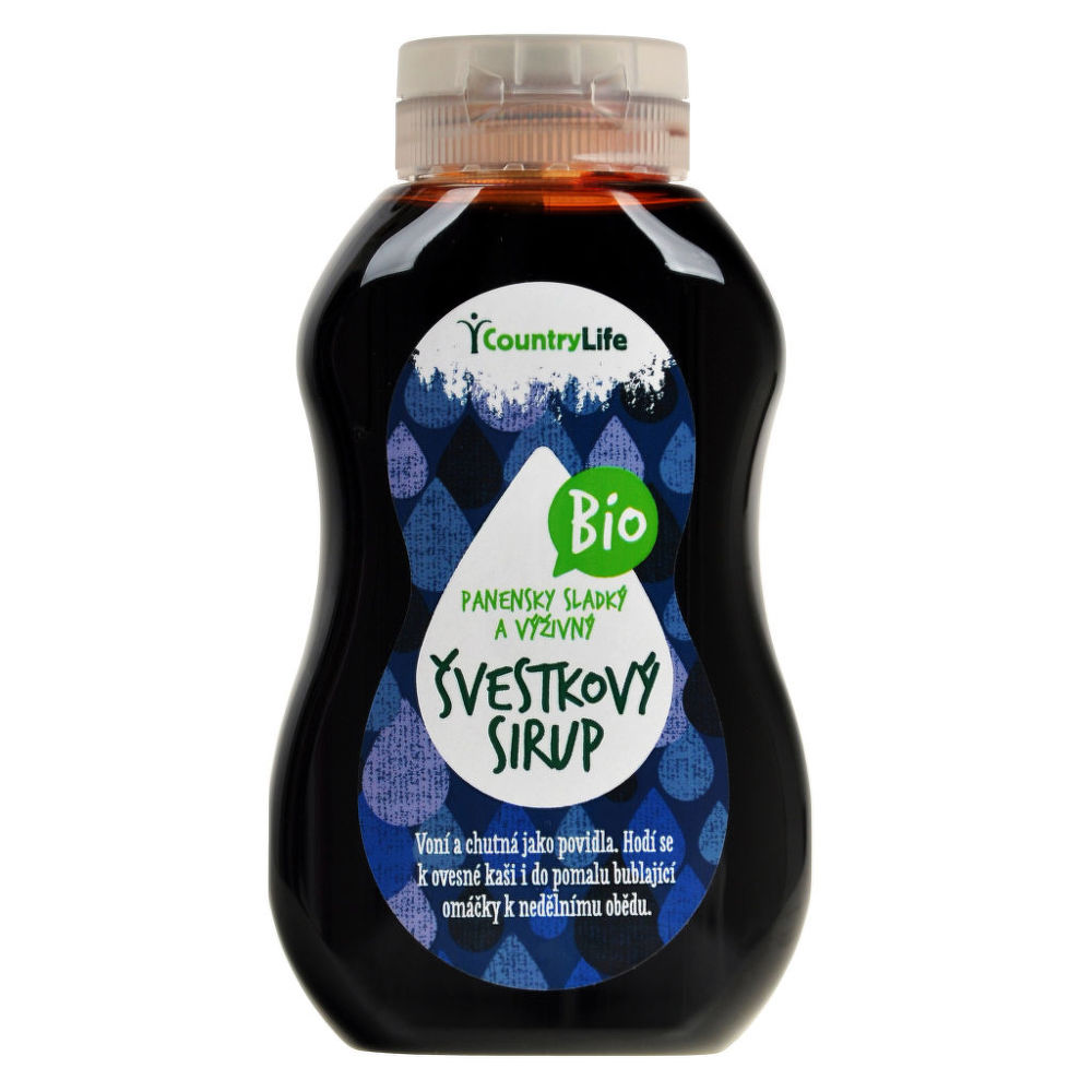 Sirup švestkový 250 ml BIO   COUNTRY LIFE