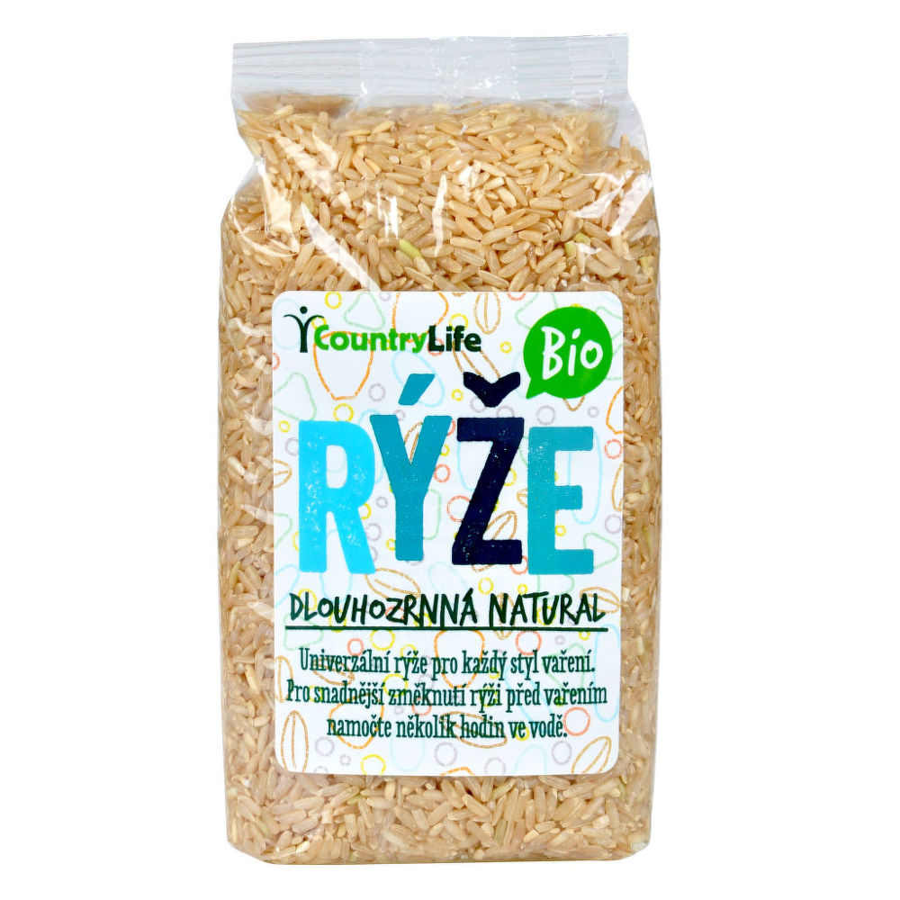 Rýže dlouhozrnná natural 500 g BIO COUNTRY LIFE