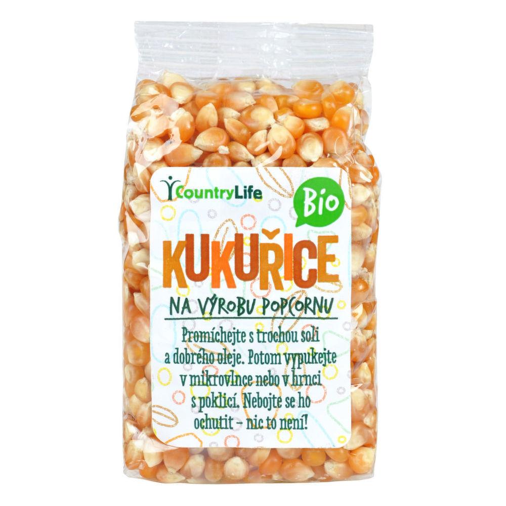 Kukuřice na výrobu popcornu 200g BIO   COUNTRYLIFE