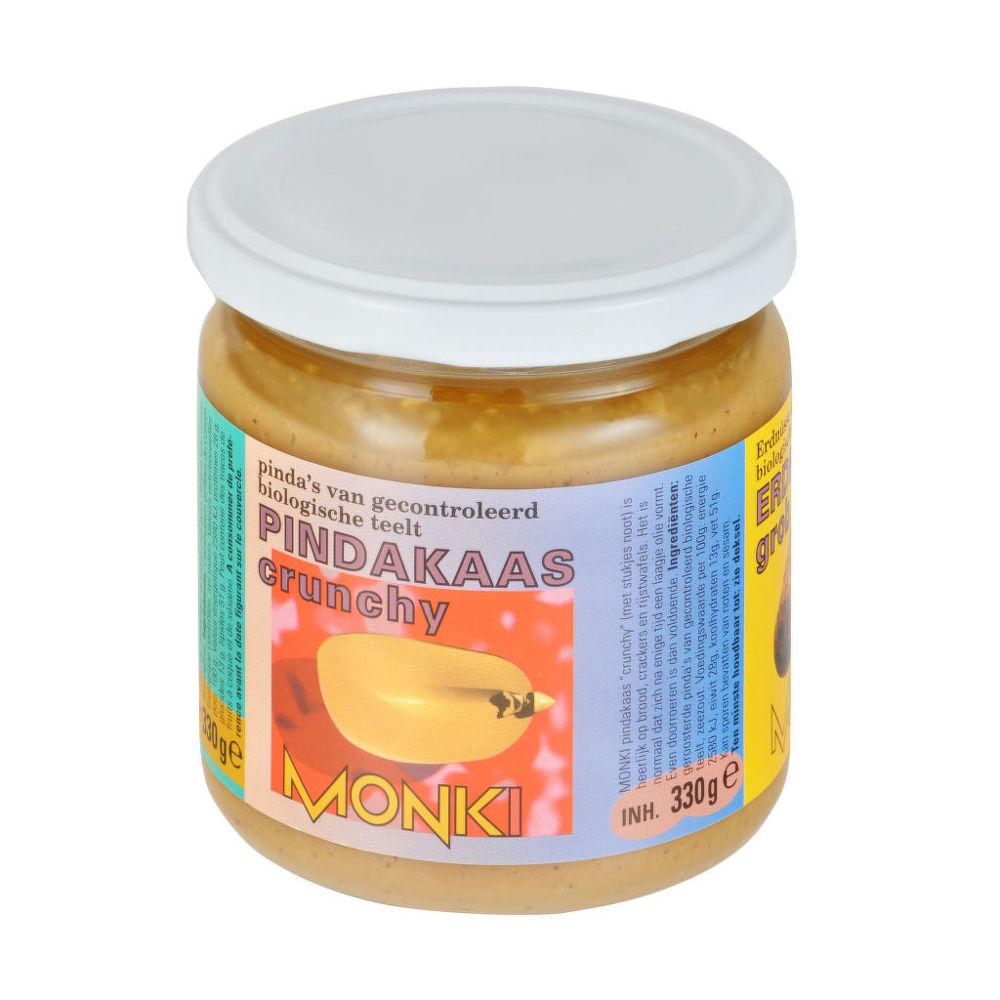 Krém arašídový s kousky 330g BIO   MONKI