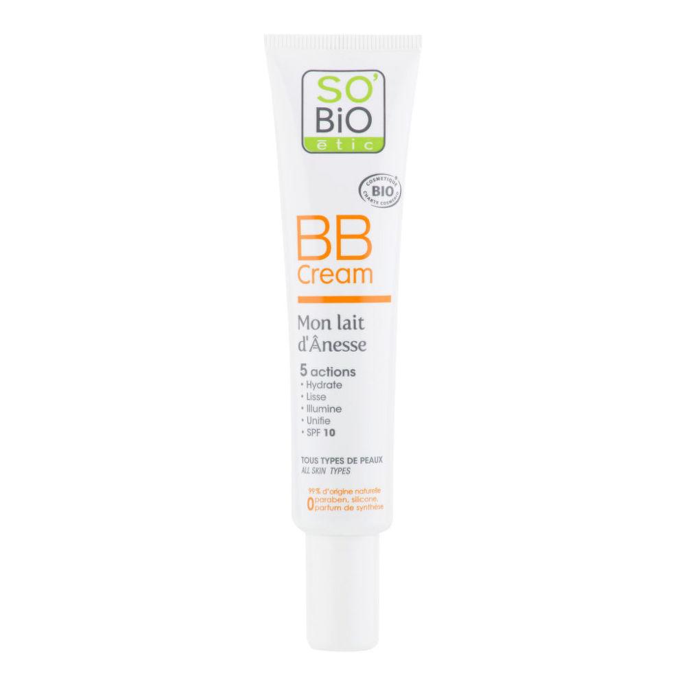 BB krém s obsahem oslího mléka 02 střední béžová 40 ml BIO SO´BIO étic