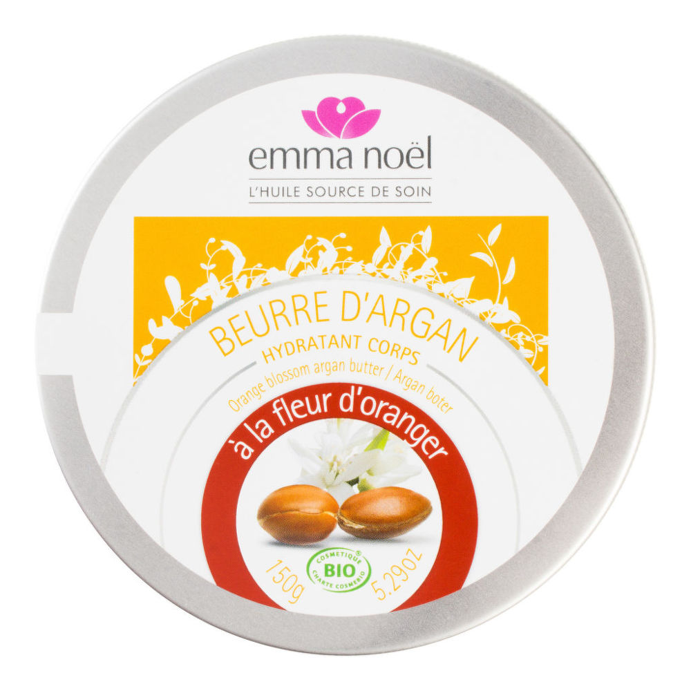 Máslo arganové s pomerančovými květy 150 ml BIO EMMA NOËL