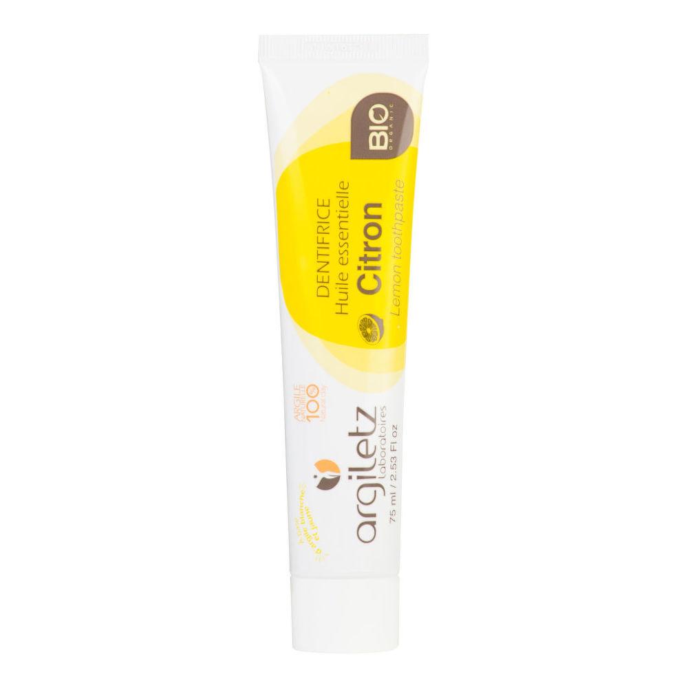 Zubní pasta s bílým a žlutým jílem citron 75 ml BIO   ARGILETZ