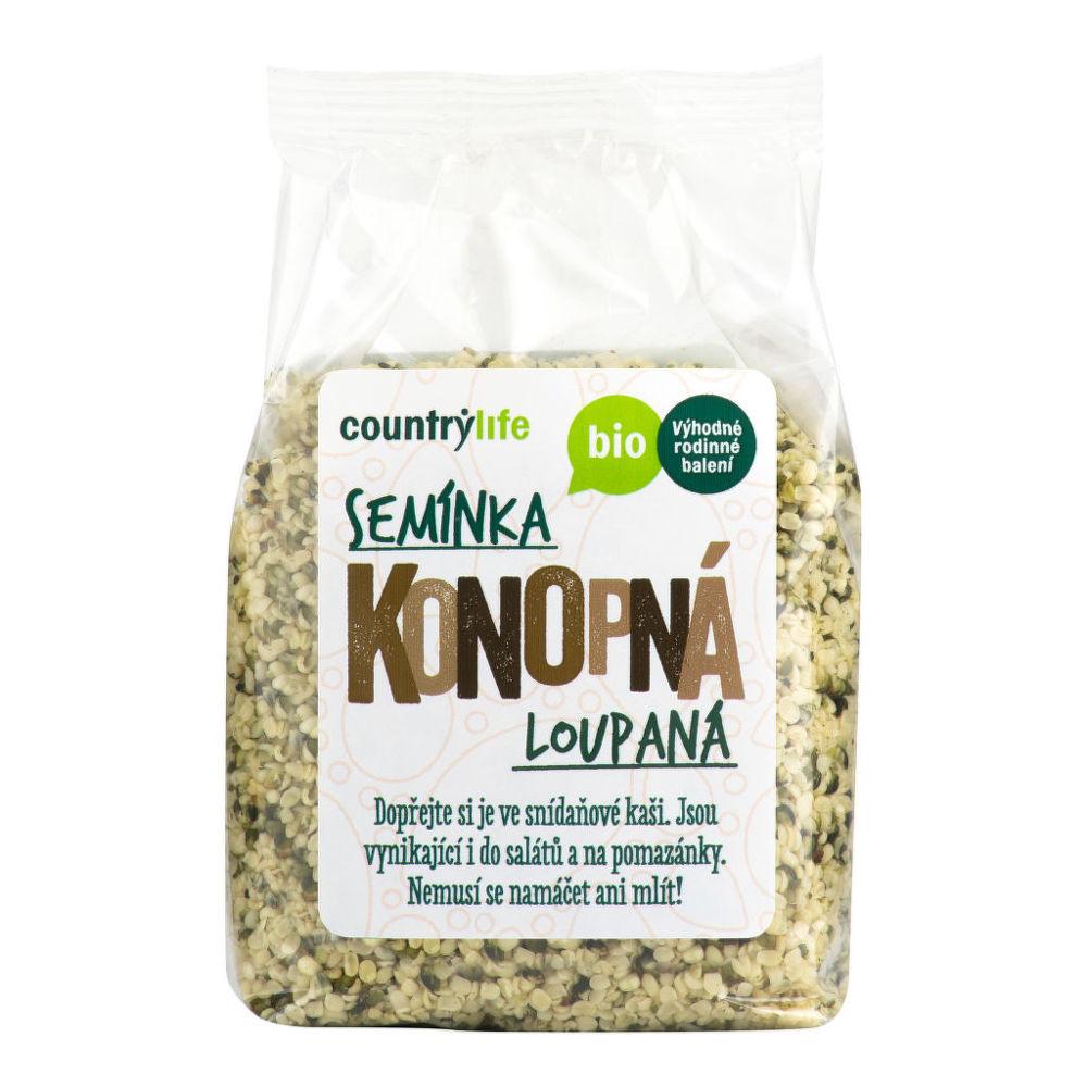 Konopná semínka loupaná 250g BIO   COUNTRYLIFE
