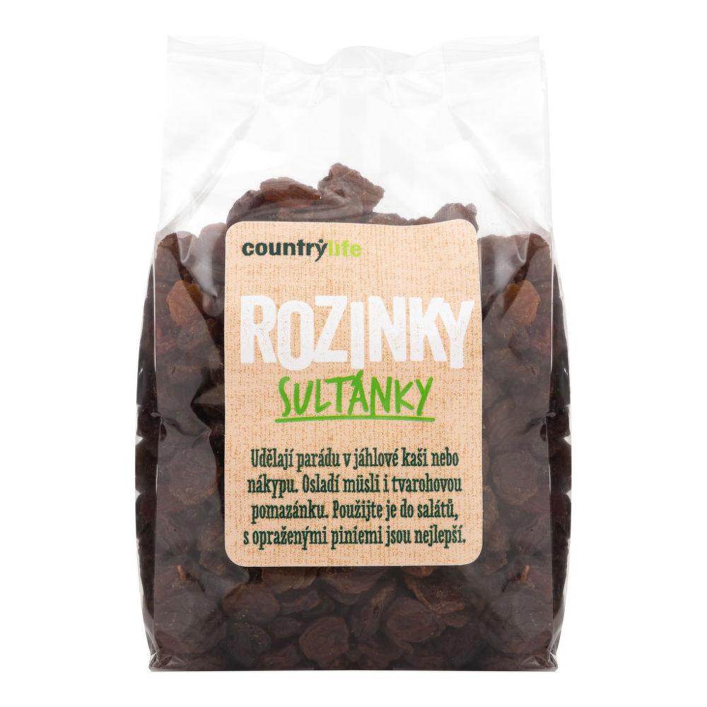 Rozinky sultánky 250 g   COUNTRY LIFE