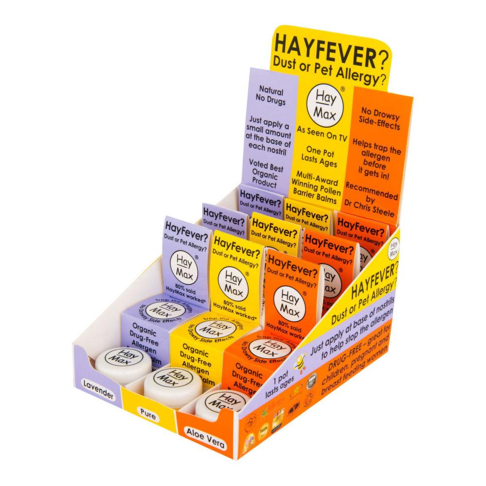 HayMax přírodní prostředek na alergii mix displej 3 testry+ 9x5 ml BIO HayMax