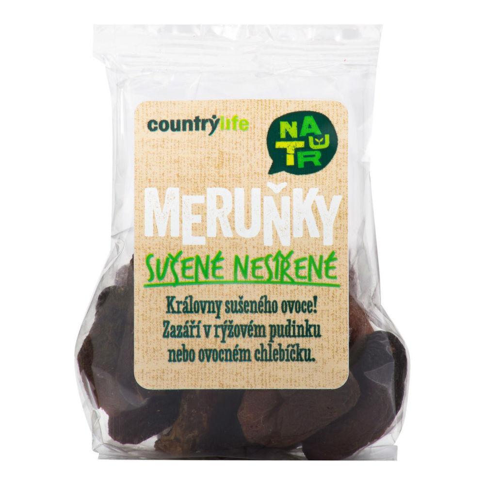 Meruňky sušené nesířené 100 g COUNTRY LIFE