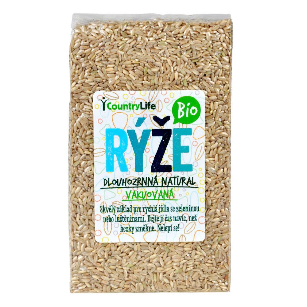 Rýže dlouhozrnná natural vakuovaná 1kg BIO   COUNTRYLIFE