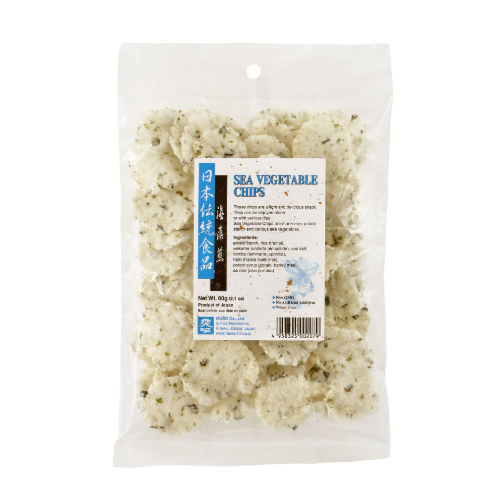 Chipsy s mořskými řasami 60 g   MUSO