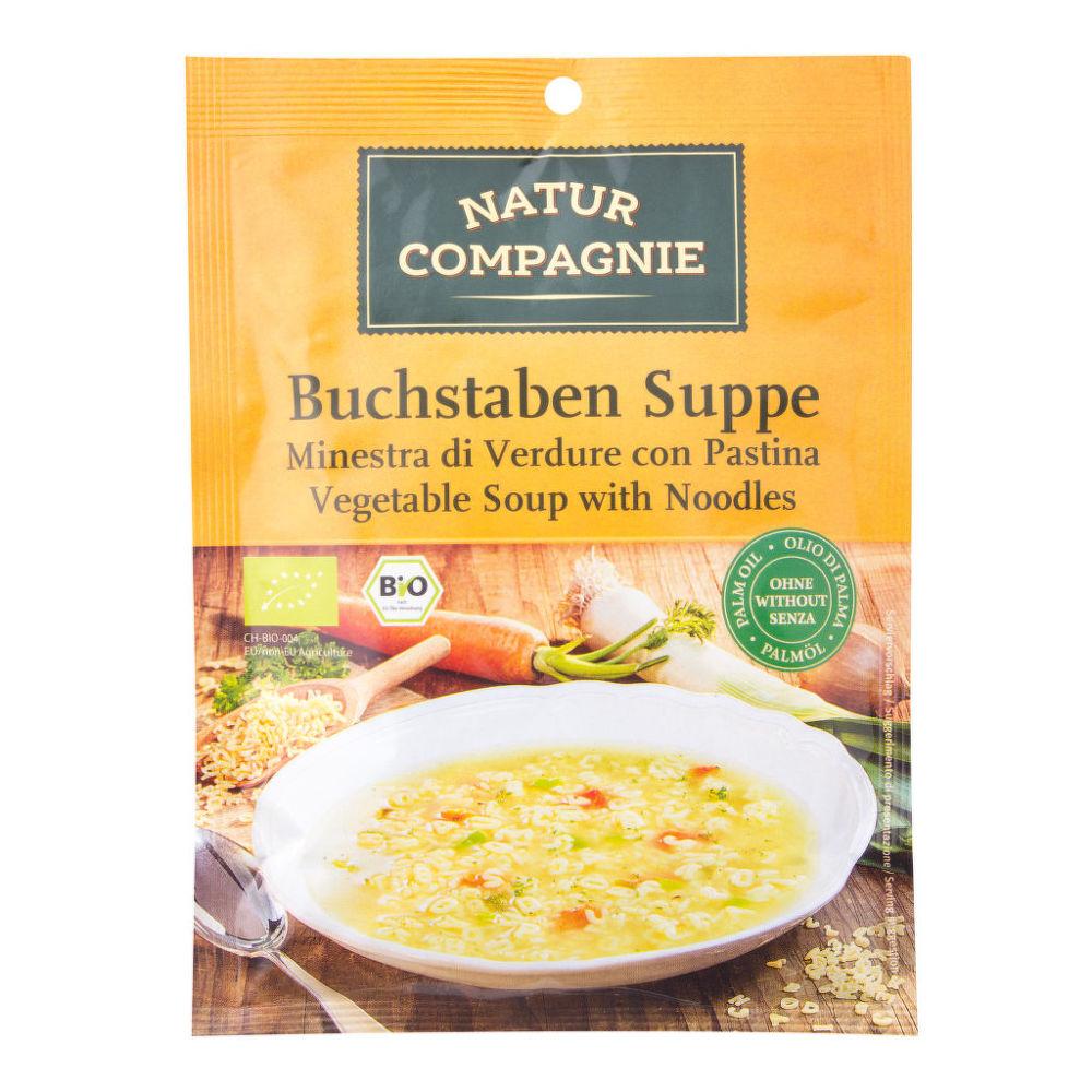 Polévka zeleninová písmenková 50g BIO   NATURCOMPAGNIE