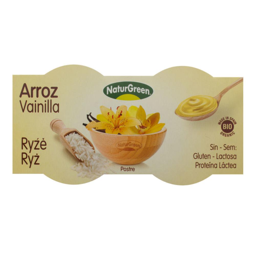 Dezert rýžový s vanilkovou příchutí 2x125g BIO   NATURGREEN