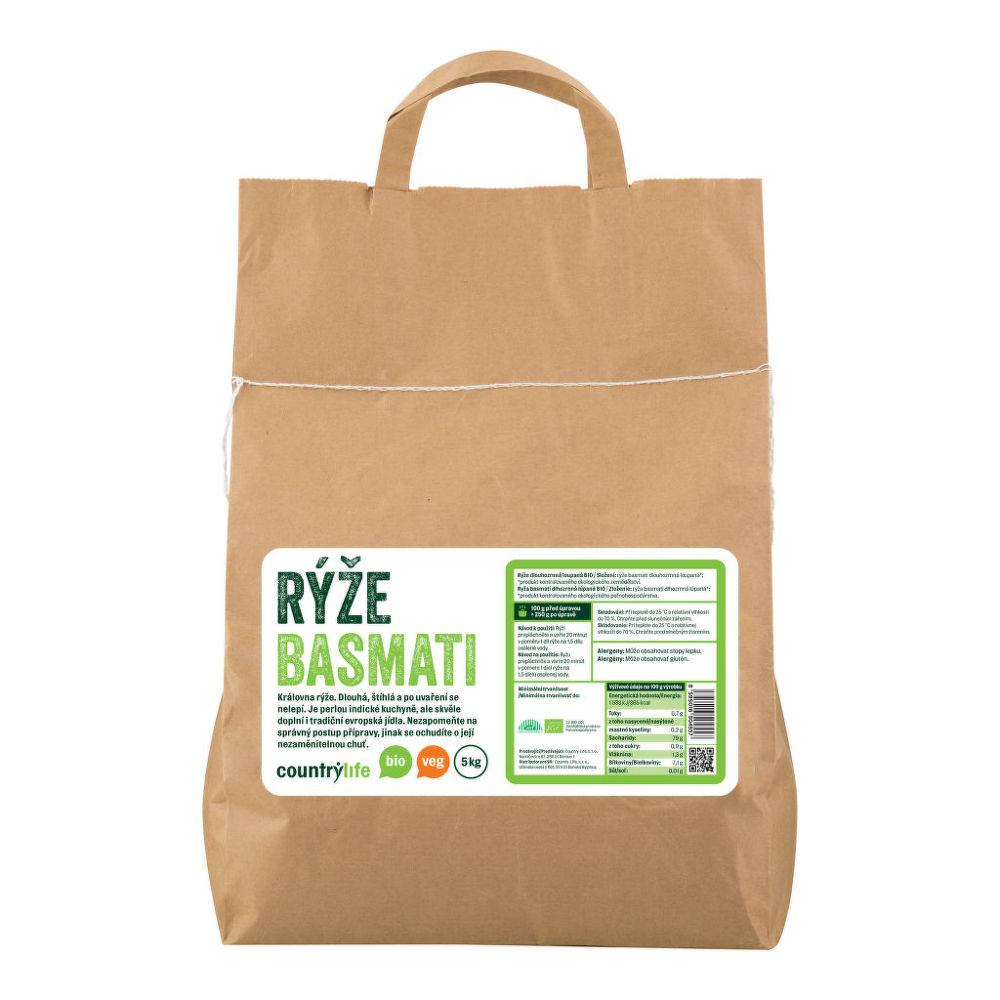 Rýže basmati 5kg BIO   COUNTRYLIFE
