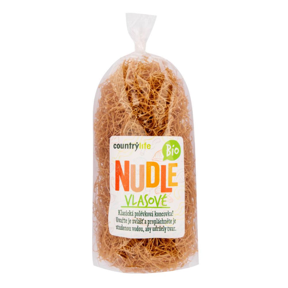 Těstoviny nudle pšeničné vlasové 200 g BIO COUNTRY LIFE