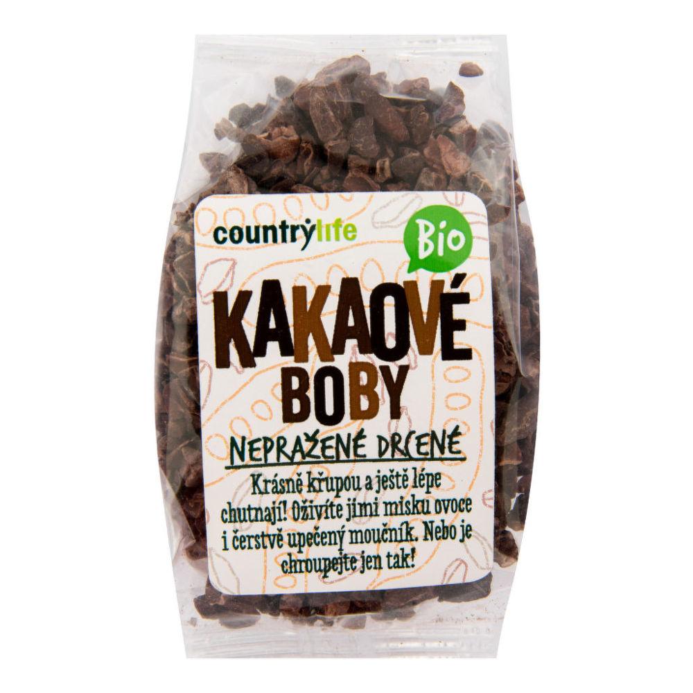 Kakaové boby nepražené drcené 100 g BIO COUNTRY LIFE