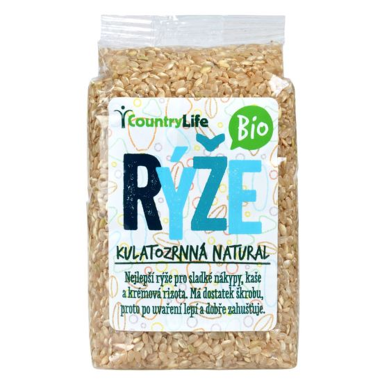 Rýže kulatozrnná natural 500 g BIO   COUNTRY LIFE
