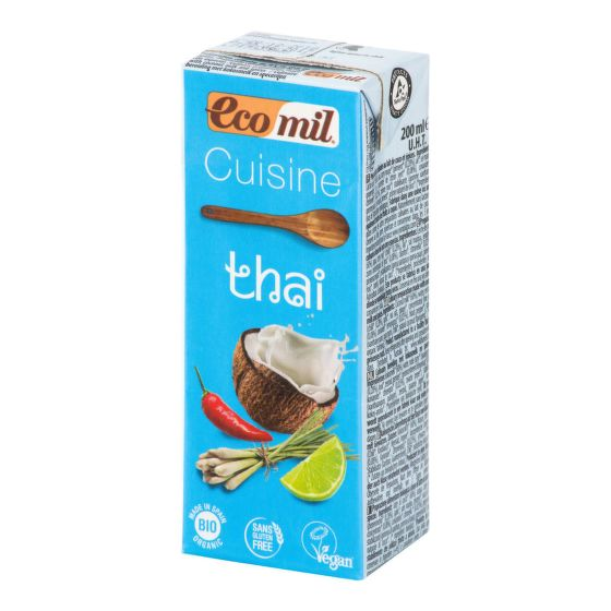 Kokosová alternativa smetany Thai 200 ml BIO   ECOMIL