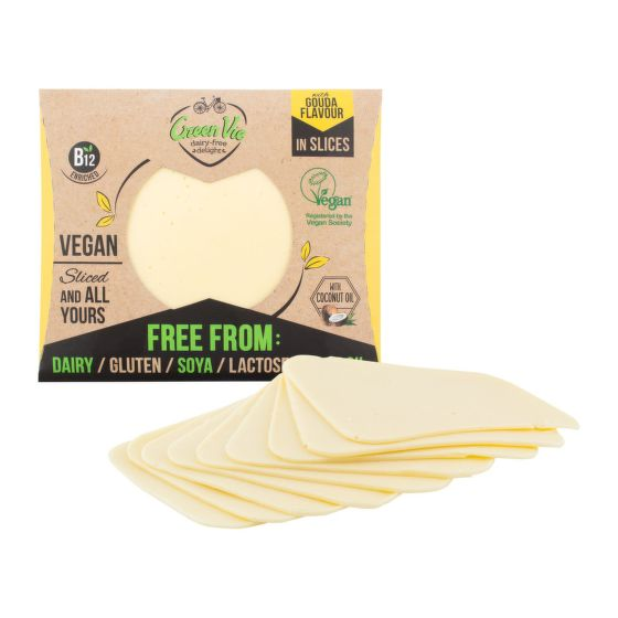 Veganská alternativa sýru gouda plátky 180 g   GREENVIE