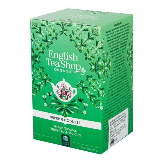Čaj Sencha, Bílý čaj a Matcha 20 sáčků BIO   ENGLISH TEA SHOP
