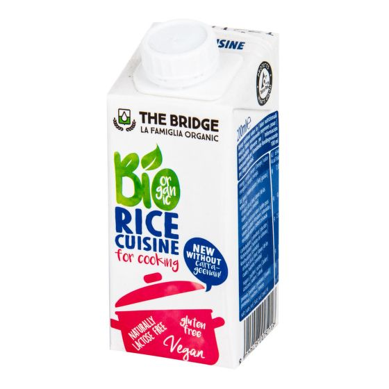 Rýžová alternativa smetany na vaření 200 ml BIO   THE BRIDGE