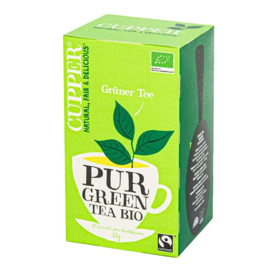 Čaj Pur Green Tea 35 g BIO   CUPPER