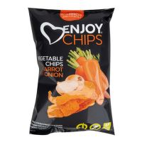 Enjoy Chips s mrkví a cibulí 40 g   NEW DELESPINE